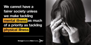Liberal Democrats want to give mental illness the same priority as physical illness.